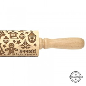 Merry Christmas theme - embossed rolling pin