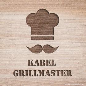 Kuchyňské prkénko se jménem vygravírovaným na míru dle Vašeho online návrhu přímo na eshopu