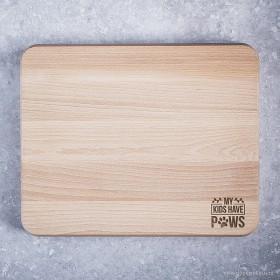 Dřevěné kuchyňské prkénko s gravírováním vlastní grafiky na míru