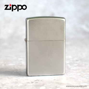 Stříbrný matný zapalovač Zippo s laserováním