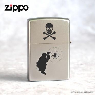 Zapalovač Zippo 20051 Satin Chrome™ s povrchem Satin Chrome™