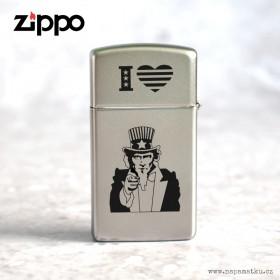 Stříbrný zapalovač Zippo 20085 Satin Chrome s gravírováním vlastního návrhu, který si vytvoříte na eshopu www.napamatku.cz