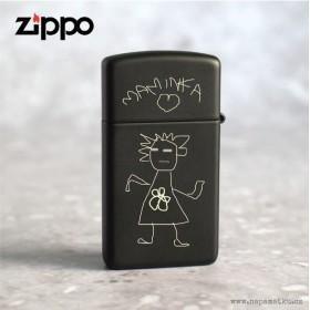 Dárek pro maminku - Originál Zippo zapalovač s obrázkem od dcerky