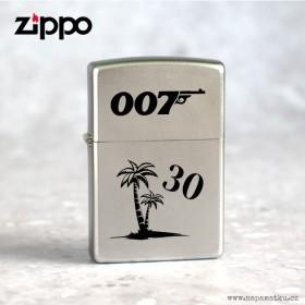 Stříbrný zapalovač Zippo Satin Chrome s gravírováním věnování k 30. narozeninám