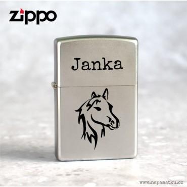 Zippo zapalovač s rytím - Dárek pro kamarádku kuřačku s věnováním dle vlastního návrhu